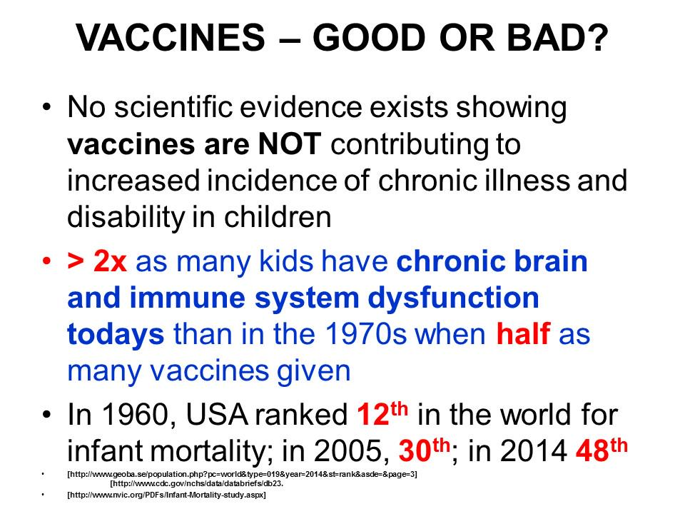 """""""No scientific evidence exist showing vaccines NOT contributing to increased incidence of chronic illness&disability"""" http://t.co/lCN8jzRHK5"""