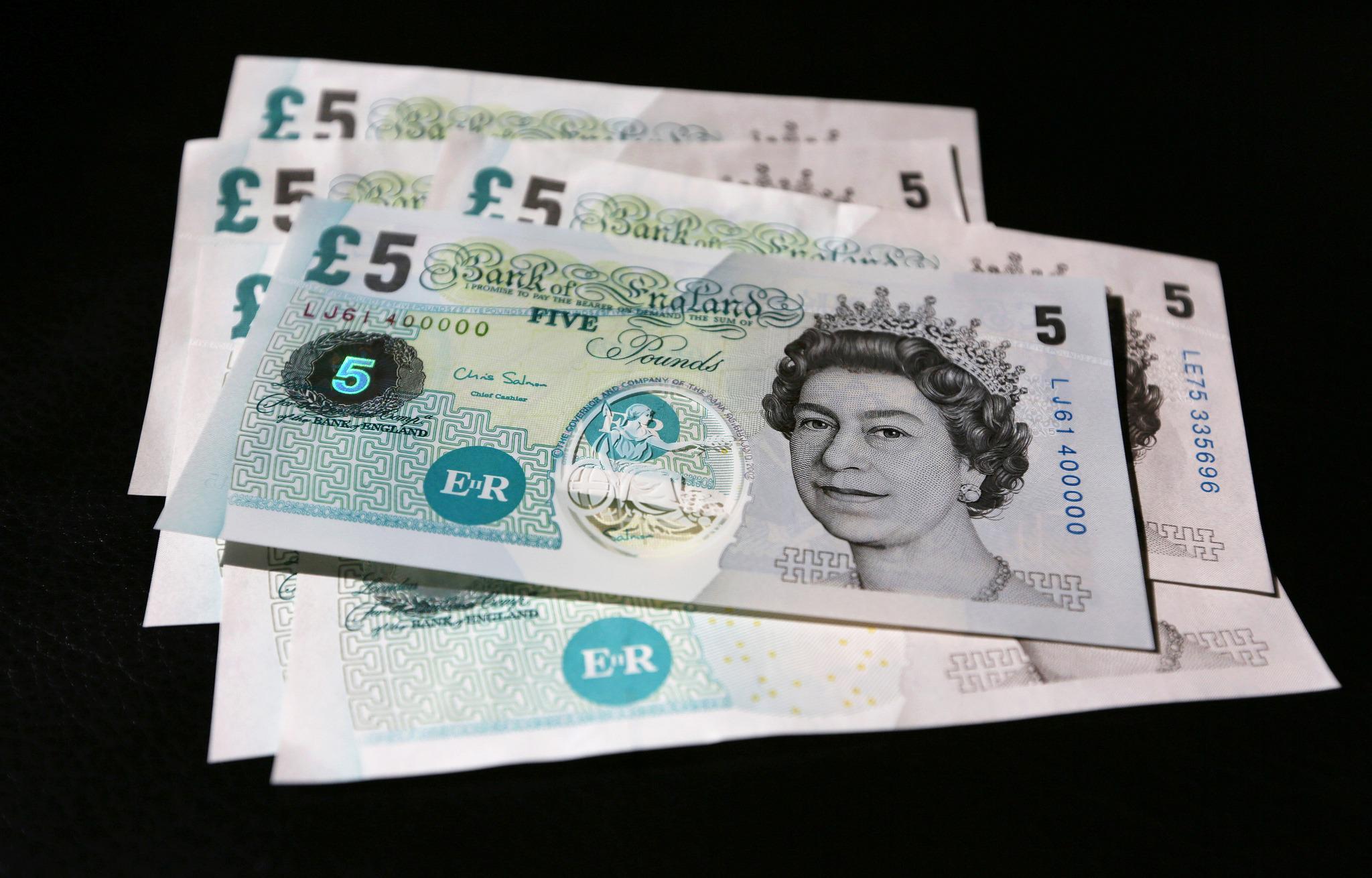 Polymer Plastic £5 BILL of UK