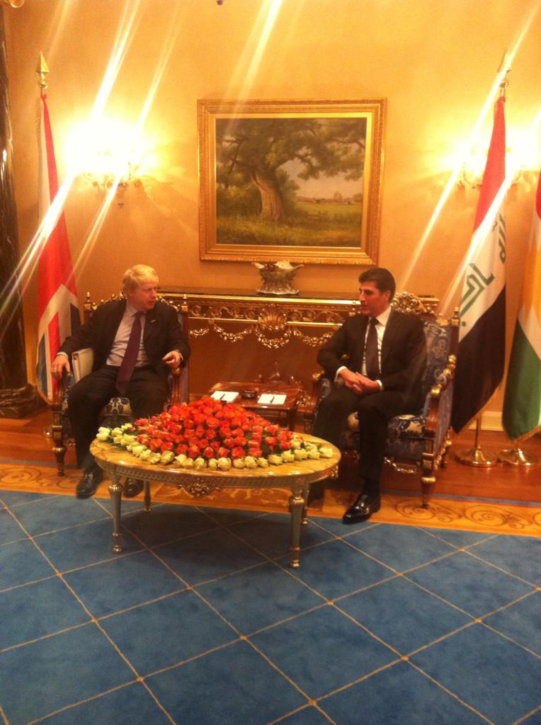 Held discussions on improving trade links and the Isil security situation with PM @NBarzani in Erbil last night http://t.co/ZmO1sqndgR
