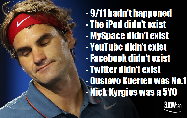 The last time Roger Federer lost this early at an Australian Open... http://t.co/aQn0a9Irpo