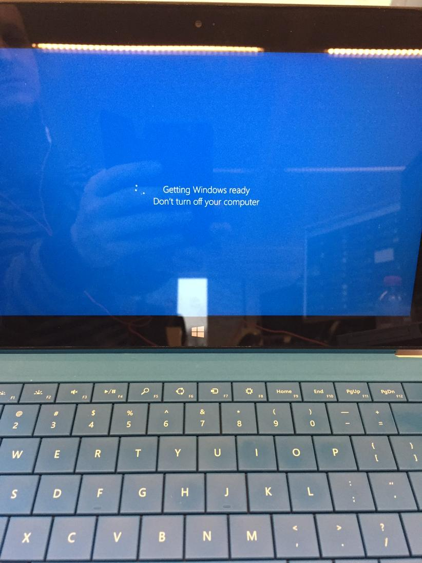Surface Pro 2 Hangs On 'Getting Windows Ready...' When