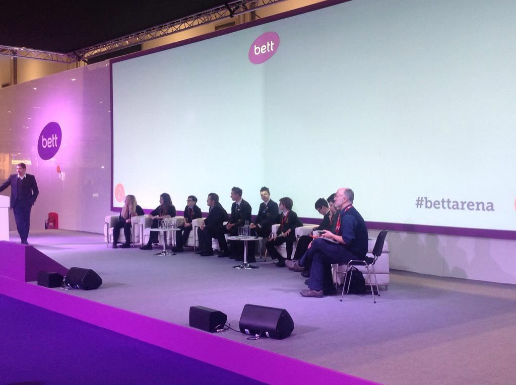 What better panel to have than students? Head over to the #bettarena #bett2015 http://t.co/13gRid0RT8