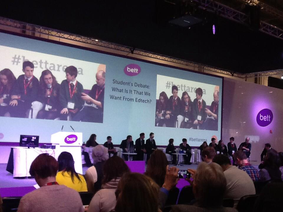 Lady Lumley's sharing their ideas about 'flipped learning' @ladylumleysDLs #Bett2015 http://t.co/rMpAc3iGIX