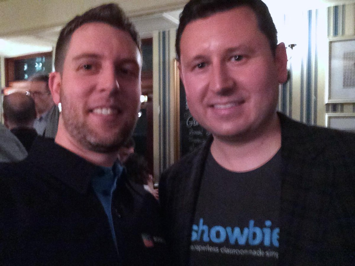 Was great to finally meet @ColinBramm from @Showbie last night. A great evening of networking after #Bett2015. http://t.co/AfptLSCzat