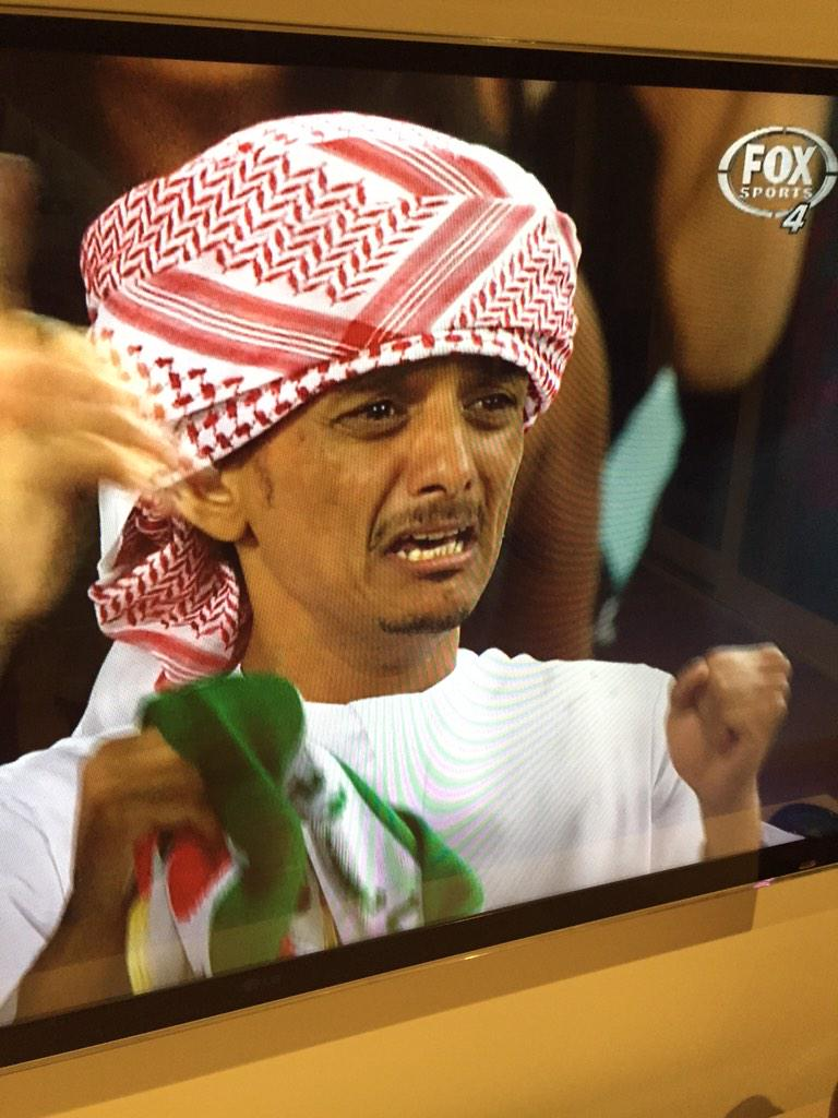 Love this guy. Incredible result for UAE. Off to Newcastle to play @Socceroos. #AC2015 http://t.co/4D8eCKf4Vn