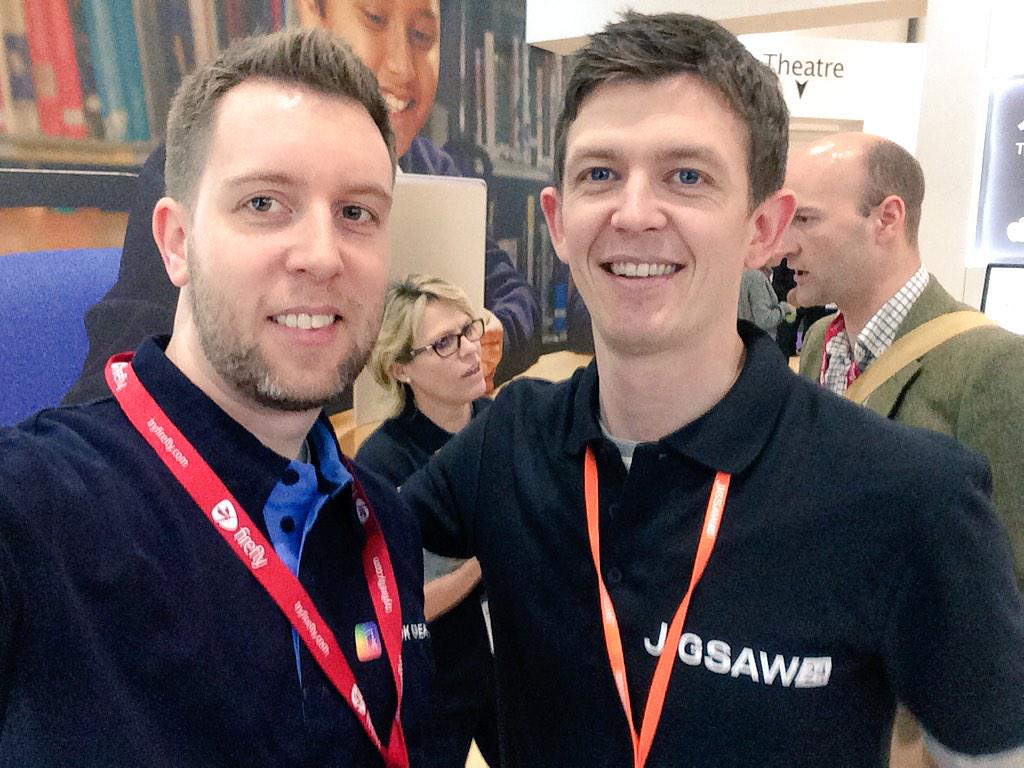 Just met @paulfordade - a mine of gold nuggets on tips for using Book Creator! #Bett2015 http://t.co/zro6HyZqZw