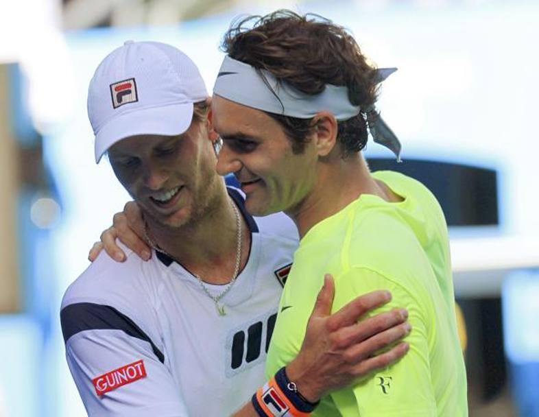 Seppi saluda Federer - Melbourne '15