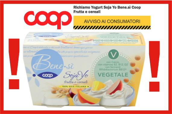 Yogurt Soja Yo Bene Si COOP frutta e cereali 2x125 gr di COOP