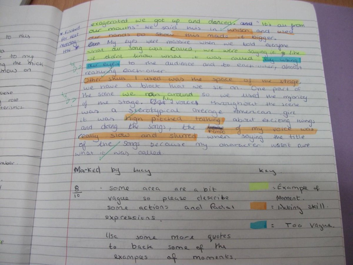 Simple but effective - peer critique using highlighters and a key here via @ewenfields http://t.co/NNGFo6K1PV  #ukedchat #aussieED #edchatie