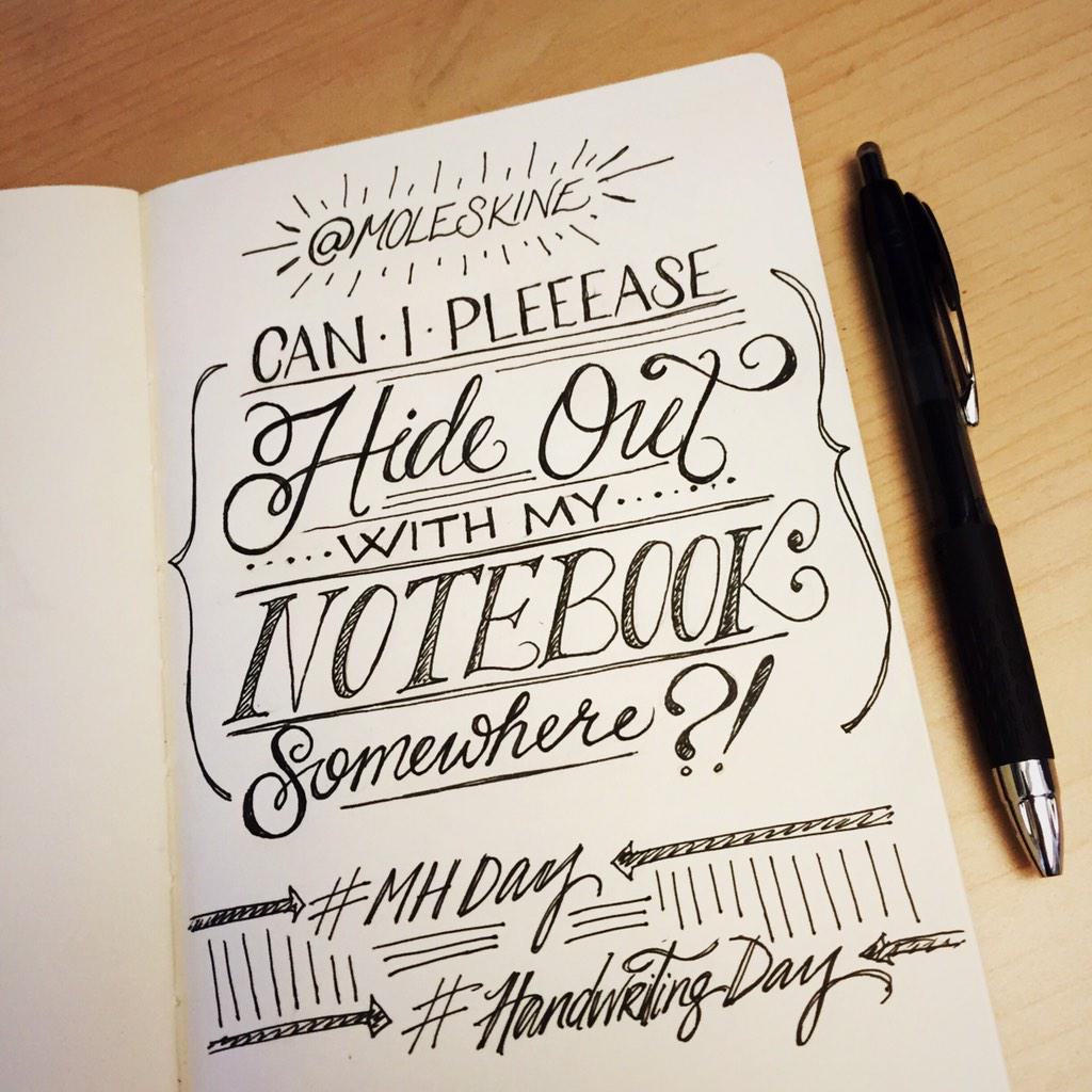 Too much to do! But I had to take a quick doodle break... @moleskine #MHday #HandwritingDay http://t.co/oNbPAC8vcU