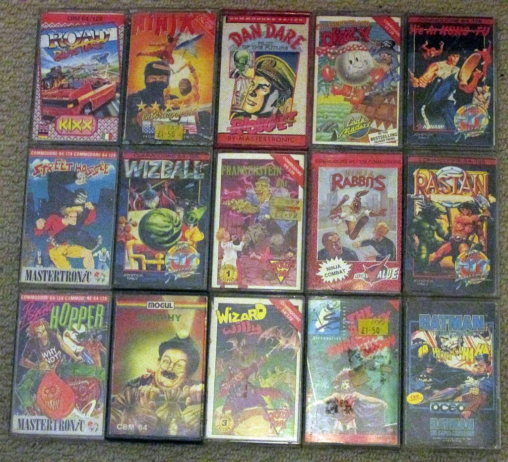 Just got the Commodore 64 out of the loft. Here's a few of the games I remember playing the most #c64 #nostalgia http://t.co/rLuL3cnH6f