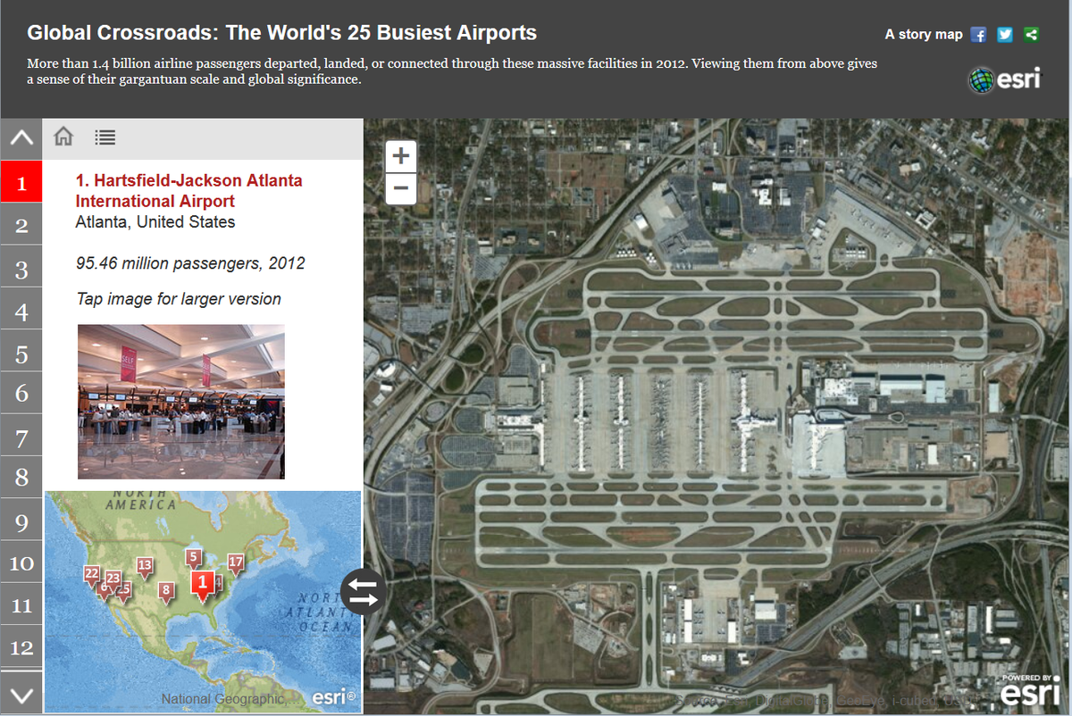 Esri Story Maps On Twitter The Worlds Busiest Airports - Esri story maps