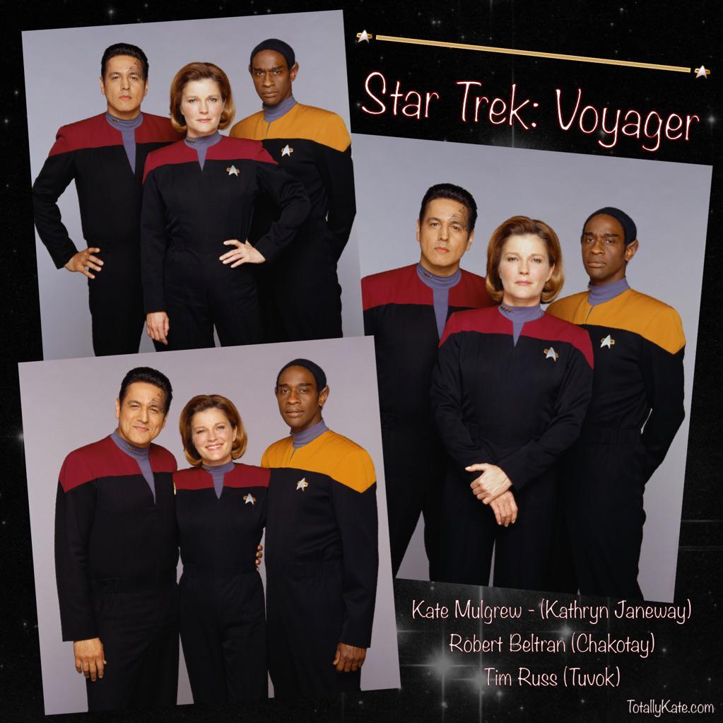Happy 20th Anniversary #StarTrek #Voyager #KateMulgrew #RobertBeltran #TimRuss http://t.co/cRFCkrY9d4