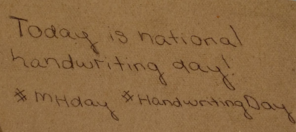 Today is national handwriting day!  From now on we will write all our tweets... just kidding #MHday #HandwritingDay http://t.co/FskAovEzqe