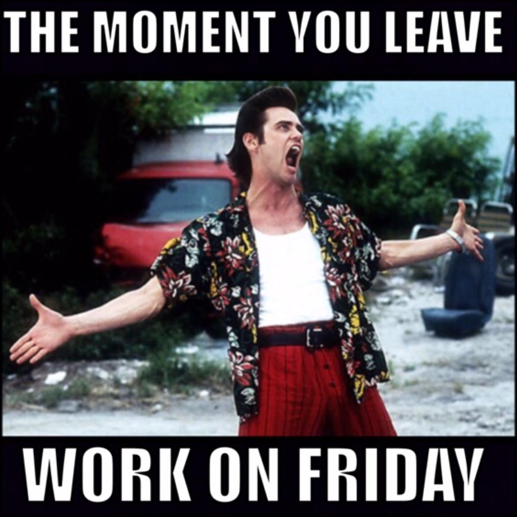 Shomari Stone On Twitter Lol The Moment You Leave Work On Friday