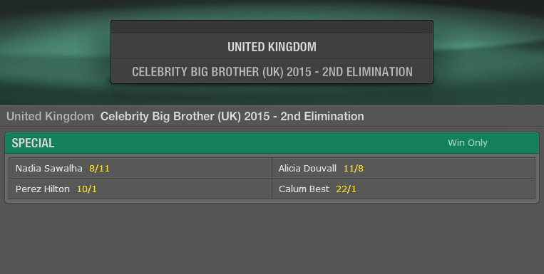Big brother betting odds bet365 syndicate cs go betting for poor