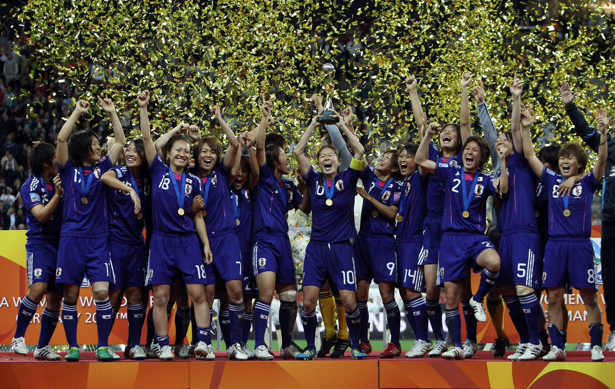 Japan and the 2011 Women's World Cup: Women In Sports: 15 Iconic Images In Women Sport- SportzPoint