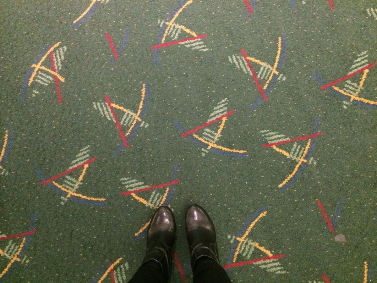 """Today's show question: What do you think of the new #pdxcarpet? Give us your """"five word"""" review of the new carpet. http://t.co/OnOKSqV7yy"""