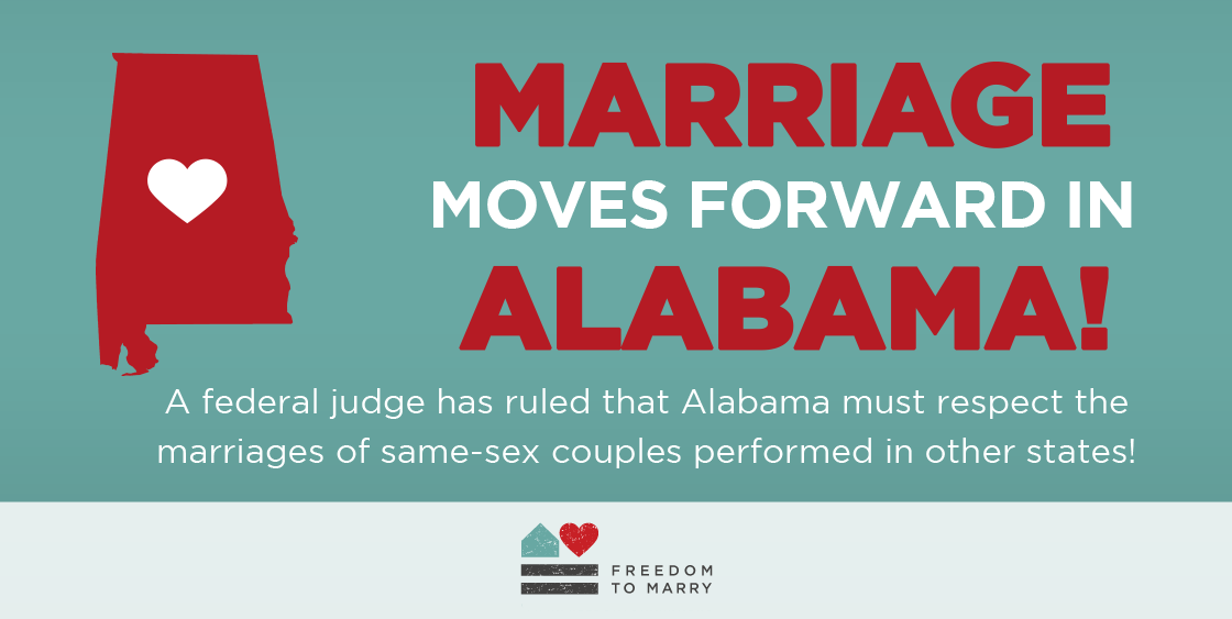 A federal judge has struck down the Alabama marriage ban. Read  @WashBlade for more info: http://t.co/35PiT7zeyY http://t.co/vT0k6NQpyx
