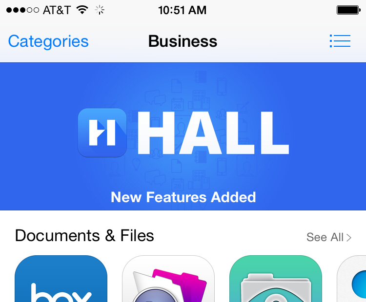 Hall iOS app now featured in the App Store! Get yours: http://t.co/6QsJJAuTQD #WorkMadeSimple http://t.co/hZcPLG8M9X