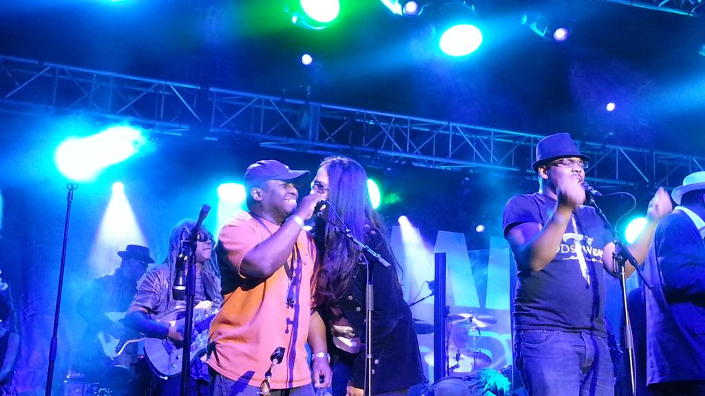 2 special! @sheilaEdrummer just came on stage with @george_clinton ! Just 2 be in the same space I'm #INSPIRED #NAMM http://t.co/OxEyi37KVF