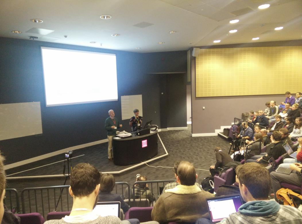 "RT ""@martinjc: .@amcunningham and James Morgan kicking things off #nhshd http://t.co/SYcuif8K9c"""
