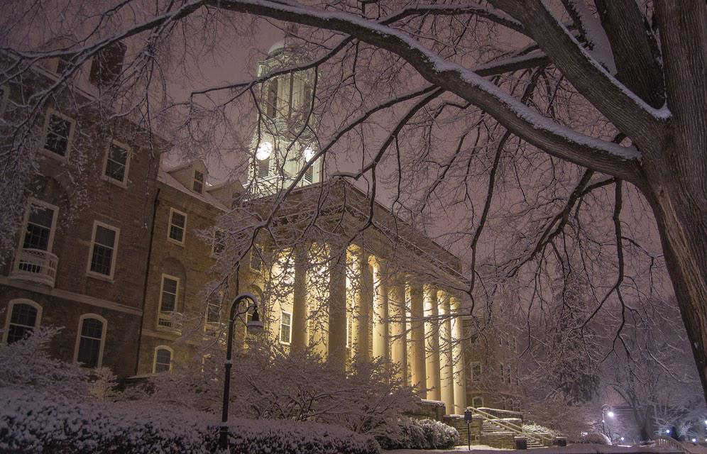 Few things are more beautiful than State College under a fresh blanket of snow. (Photos: @WxDeFlitch)