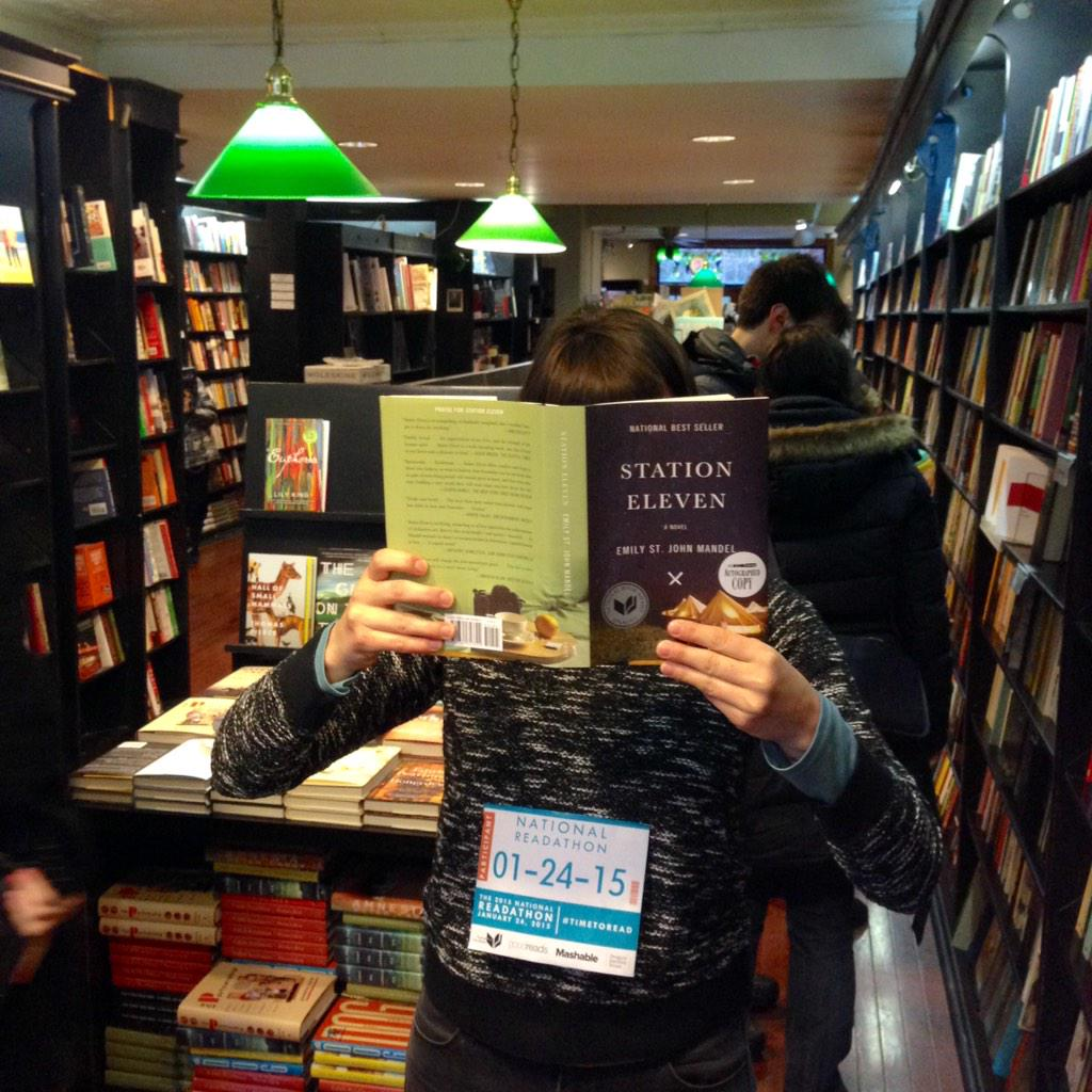 Making #timetoread at @CommunityBkstr in park slope, brooklyn. @EmilyMandel @nationalbook http://t.co/ISdf3gPVSz