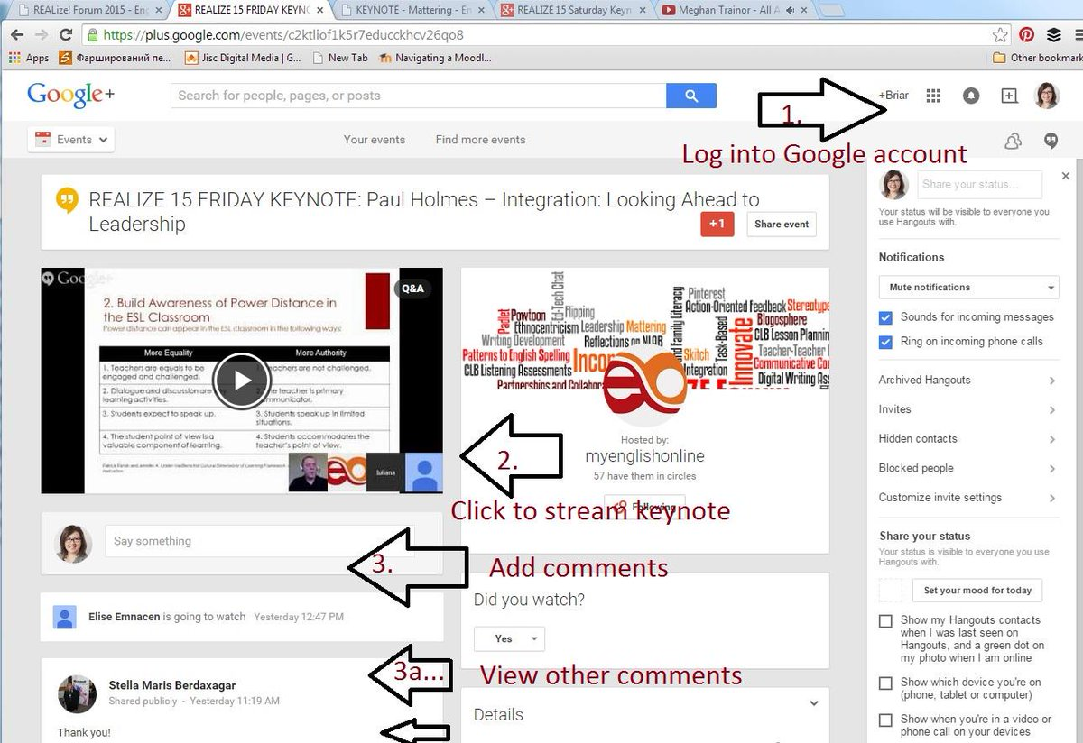 #realize15 There are multiple ways to add comments during the Keynote Address. Log into your G+ account. See screen: http://t.co/hPLfWkS3mE