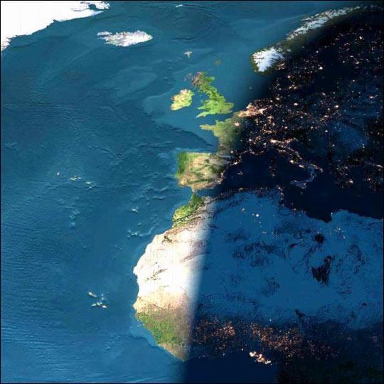 Explicación visual por que deberíamos tener la misma hora que el Reino Unido. @warsclon http://t.co/uR52D6huAV