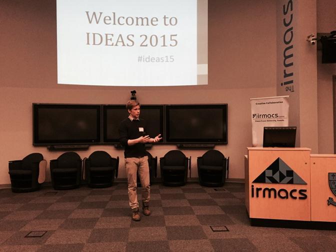 My grad student Sean Godwin starting #ideas15 grad symposium http://t.co/GgFWuGk9dM