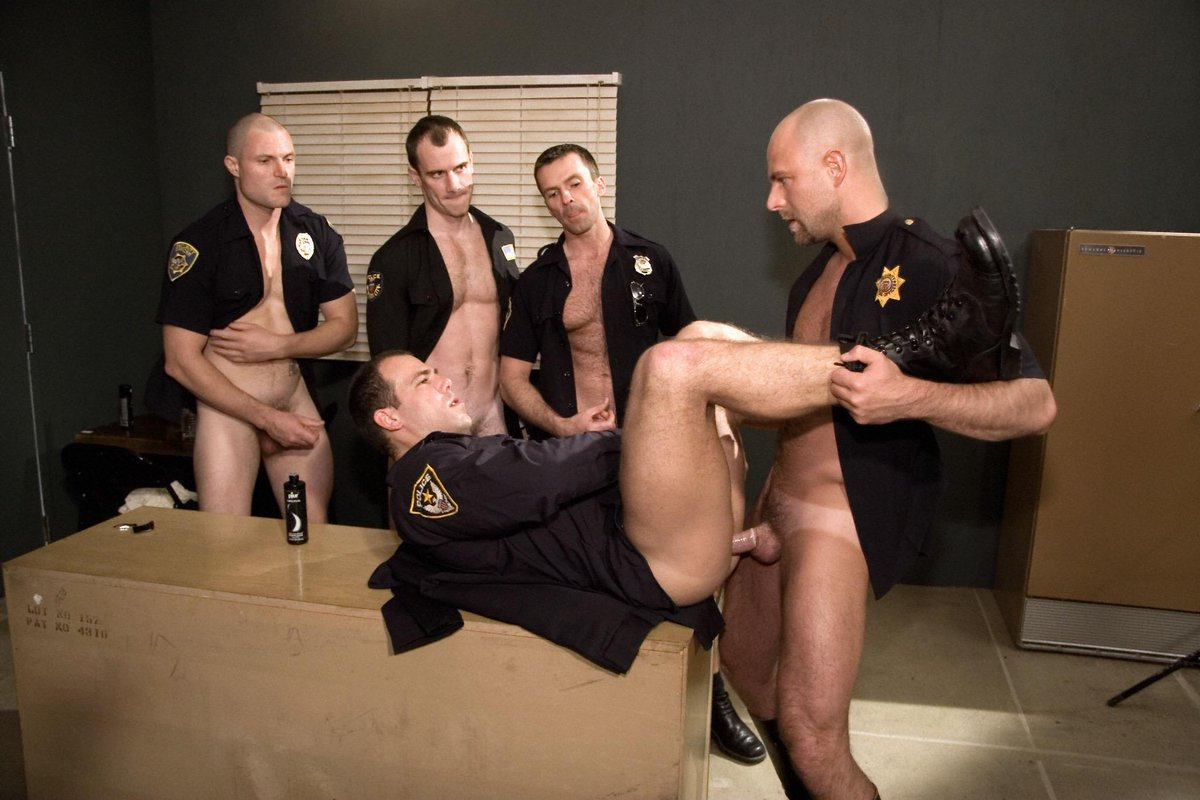 Crossing the line cop shack gay porn