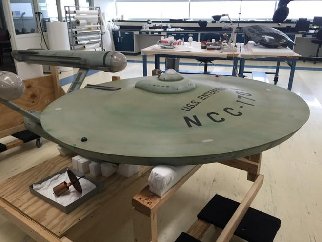 USS Enterprise on display at NASM Udvar Hazy @MikeOkuda http://t.co/oB9v3X9rRU