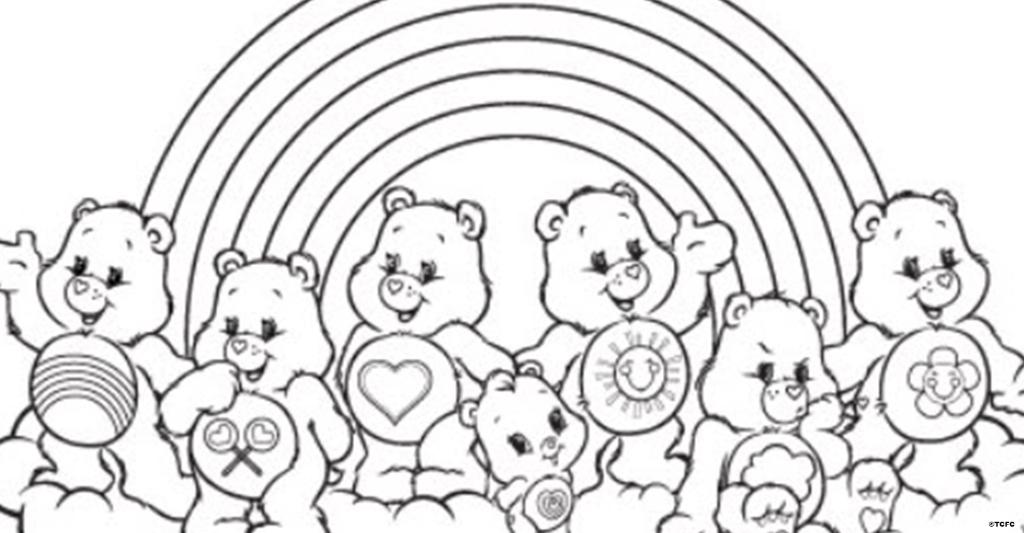 care bears on twitter the gangs all here color this welcome to care a lot coloring page from the carebears httptcof1ndoxhs1g - Care Bears Coloring Pages