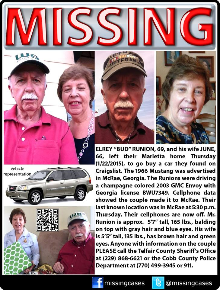 #Florida #Louisiana #Alabama #Missing RT @uniongirlct: #findbudandjunerunion #Georgia #MissingPersons #Craigslist http://t.co/JXTVJKO7KW
