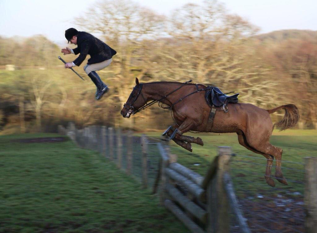 Always get forward when taking off at a jump! (Photo Ginni Beard)