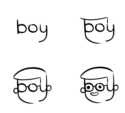 how to draw cool words
