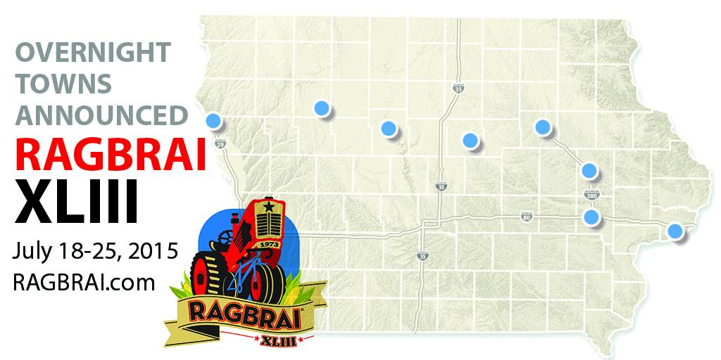 We're taking inspiration from our first #RAGBRAI. See the full route:  http://t.co/DGLTG9gh1E. http://t.co/9vLiKEQgcn