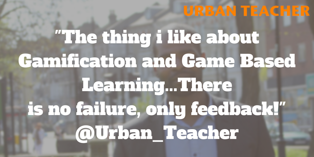 """The thing i like about Gamification and Game Based Learning...There  is no failure, only feedback!"" #aussieED http://t.co/TsHhjiOlYo"