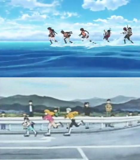 艦これのアニメの出撃しているシーン。既視感ずっと感じていたけど、多分正体はこれだわ。 http://t.co/znbz8FX0Z1