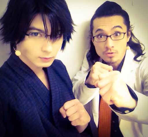 そして勿論最後はこの人。 ニィ唐橋さんの若い頃を演じられて、 本当に光栄でした。またご一緒したい。  さー!早速大阪駅にて新幹線じゃ! 大阪サンキュー!! #fujitaray #dustz