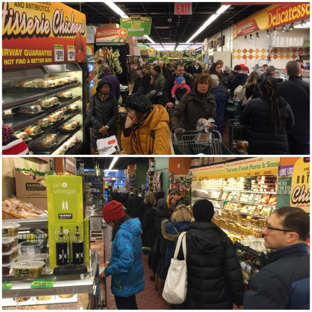 Upper East Side Fairway pandemonium ahead of #Juno Blizzards are good for the grocery biz http://t.co/RZerfP8GXF
