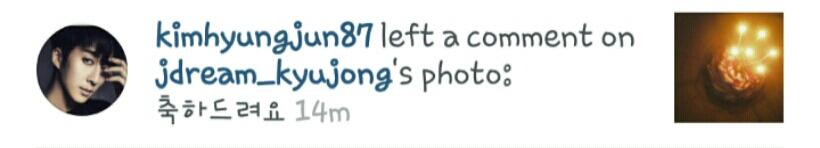 @HyungJun87 comment on KyuJong's ig post. ^^~ http://t.co/iS4PNThXPj