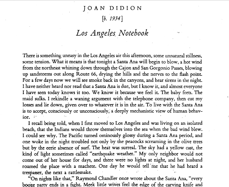 the santa ana joan didion