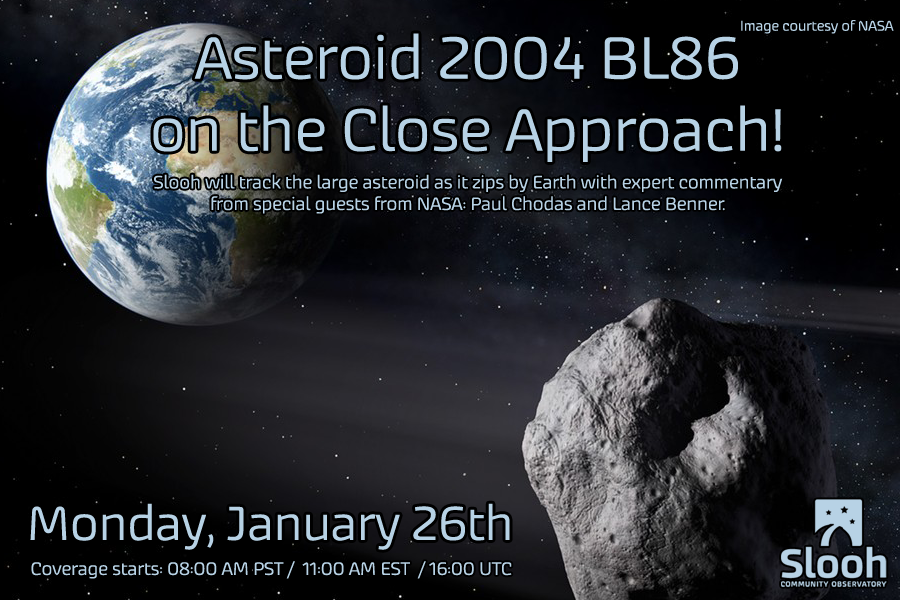 Watch the large asteroid pass by on the close approach LIVE on http://t.co/bRkS45cbaz. #SloohBL86 http://t.co/jpSJ3EqBeY