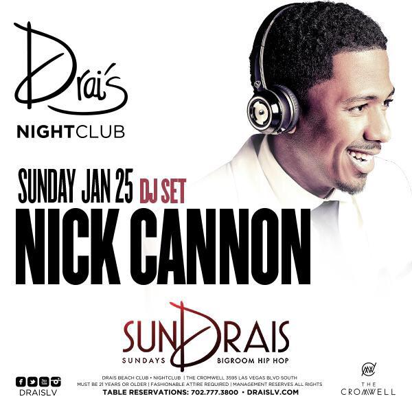 tonight at @DraisLV, get it in with #NickCannon and the @SKAMARTIST family! http://t.co/3CgInYWV38