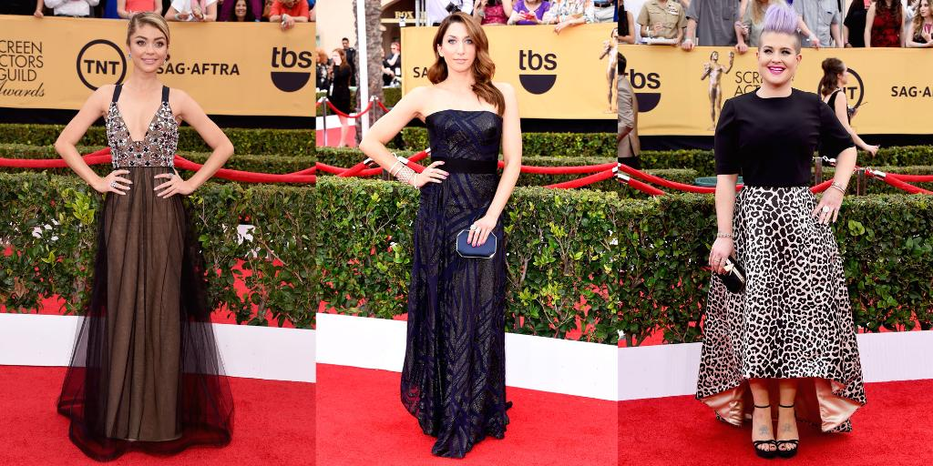 And...we're off! See EVERY single look from the #SAGAwards red carpet (we'll be updating!): http://t.co/V8Dl8UhyE0 http://t.co/sf8pYINTRU