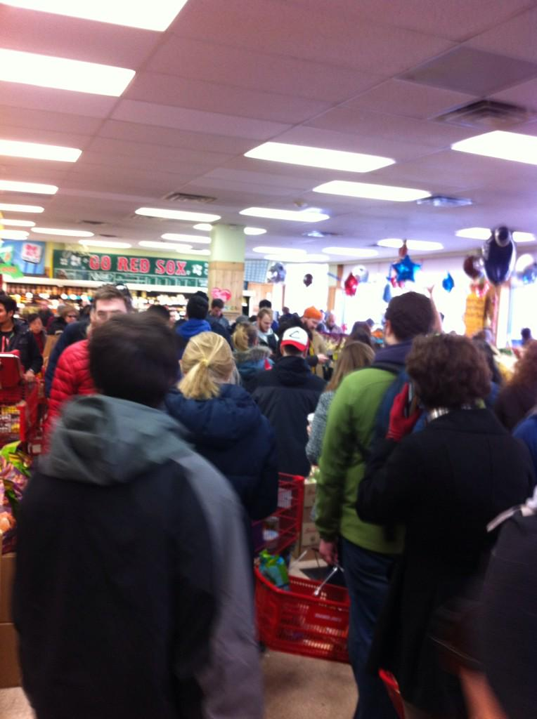 The checkout line at Trader Joe's Brookline, everyone. #BlizzardOf2015 http://t.co/VXyRDAPk8R