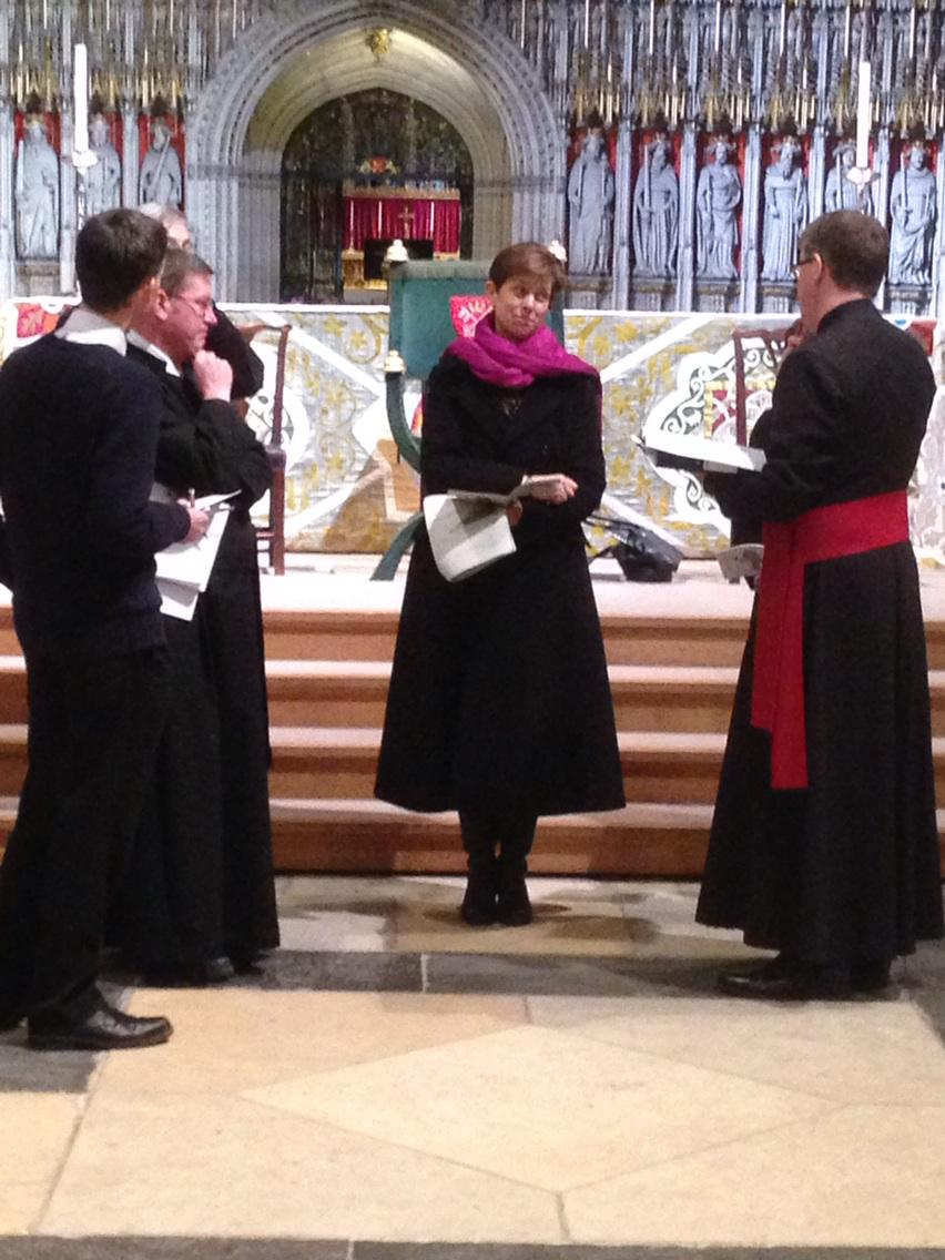 Rehearsals for the big day. #bishoplibby http://t.co/Z2YjrQ1IGk