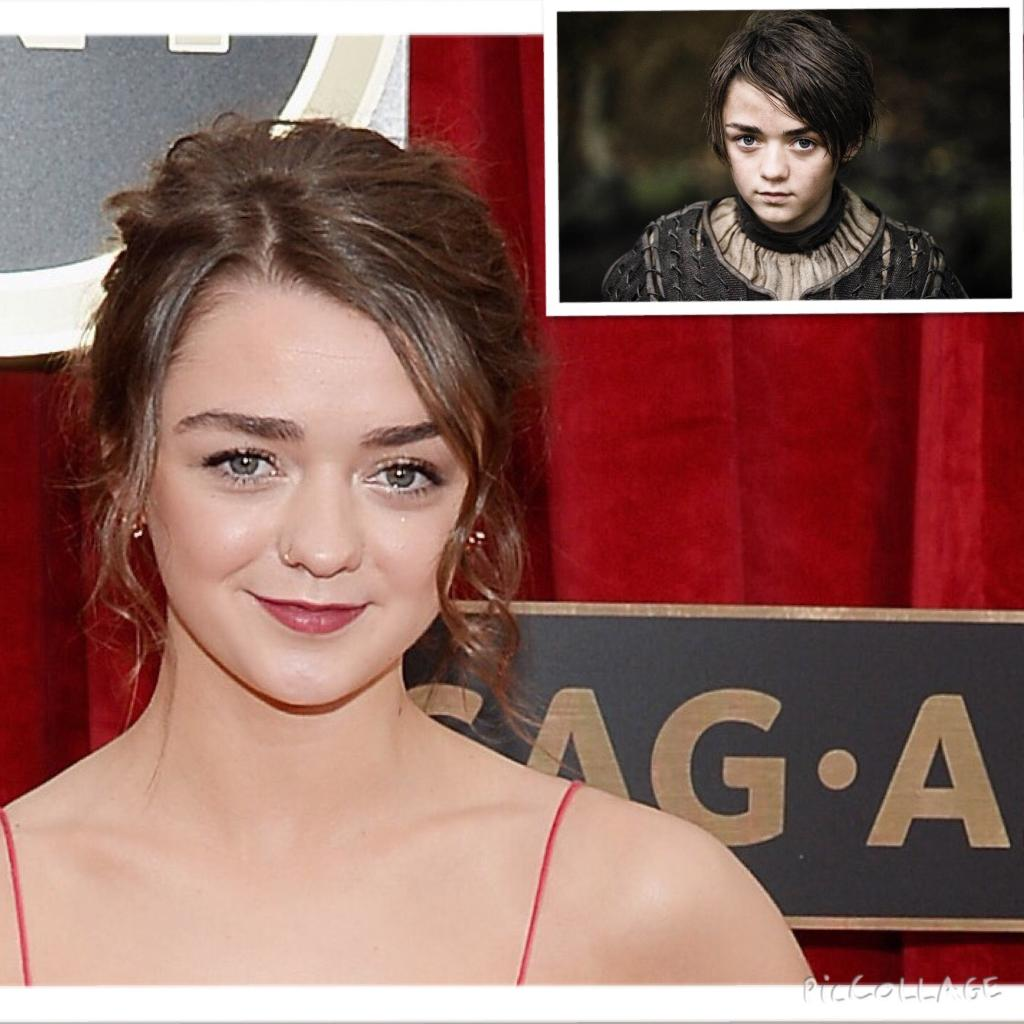 Game of Thrones' Maisie Williams looks SO grown-up on the SAG Awards--see her whole look here: http://t.co/7HMOOjQZHF http://t.co/noepGE8MXR